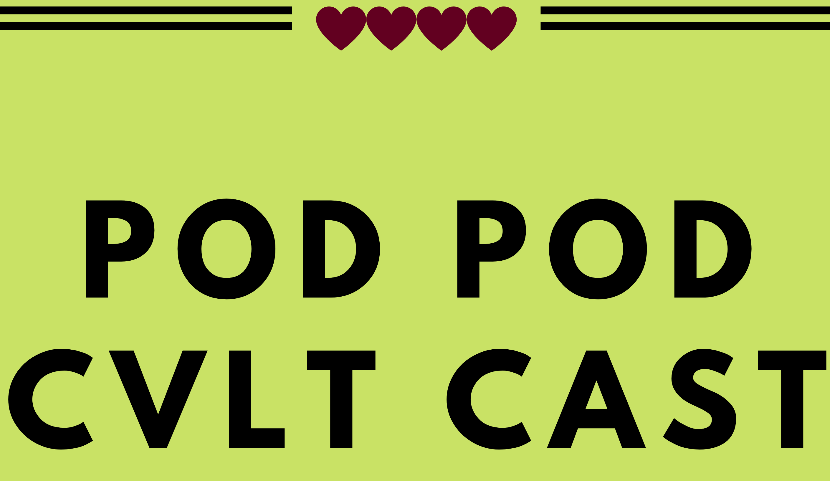 Logo for Pod Pod Cvlt Cast